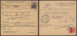 Belgique 1918 - Lettre De Voiture Colis Postal Anvers Vesr Libramont - [OC26/37] Etappengeb.