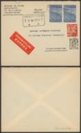Belgique 1949 - Lettre Par Express Koksijde Strand Vesr Uccle - 1948 Export