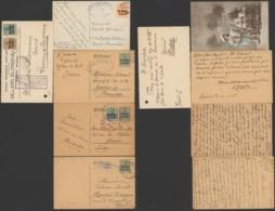 Belgique - Lot De 5 Entier Postal / Carte Postale - Censure - Entiers Postaux