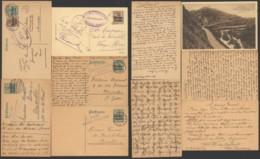 Belgique - Lot De 5 Entier Postal / Carte Postale - Censure - German Occupation