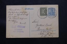 ALLEMAGNE - Entier + Complément De Reussendorf Pour  Bornstedt En 1921 - L 60152 - Ganzsachen