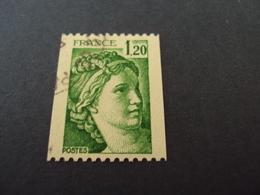 """1977-81 Oblitéré N° 2103  """"SABINE De Gandon  1.20   """"  -   Net    0.40  Roulette - 1977-81 Sabine (Gandon)"""