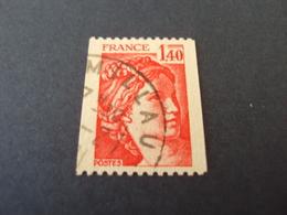 """1977-81 Oblitéré N° 2104  """"SABINE De Gandon  1.40   """"  -   Net    0.40  Roulette  """"  Millau  """" - 1977-81 Sabine De Gandon"""