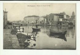 13 . MARTIGUES . ENTREE DU CANAL DU ROI  .BARQUES  ( Pli Milieu Carte ) - Martigues