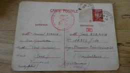 Carte Envoyee Au Camp Lager  Weimar BUCHENWALD En 1944, Ecrite En Allemand - Postmark Collection (Covers)