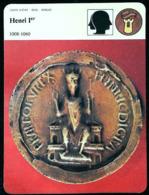 HENRI Ier (1008-1060) - Série Chefs D'Etat & Noblesse - FICHE HISTOIRE Illustrée (son Sceau Royal) - 987-1789 Monnaies Royales