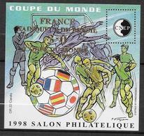 CNEP - 1998 - BLOC SALON De LYON - COUPE DU MONDE SURCHARGE - YVERT N°27 ** MNH - CNEP