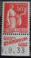 France N° 283 I Neuf * (charnière). Timbre De Carnet. Bande Publicitaire Publicité Pub. Ledun Fécamp - Advertising