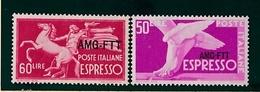 1950 1952 Italia Italy Trieste A  ESPRESSO DEMOCRATICA 50 Lire E 60 Lire MNH** EXPRESS - 7. Trieste