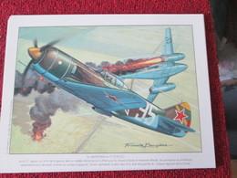 CAGI4 Superbe Gravure Francis BERGESE Sur Carton Fort 180gr , Format Env. A4 , AVIATION 39/45 : LAVOCHKIN LA-7 Et Pas 17 - Aviation
