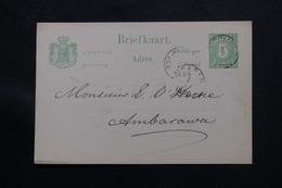 INDES NÉERLANDAISES - Entier Postal Pour Ambarawa En 1890 - L 60161 - Nederlands-Indië