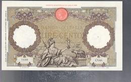 100 Lire Capranesi Roma Guerriera 19 08 1941 Fascio Roma Sup Pressato  LOTTO 3227 - 100 Lire