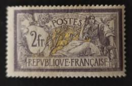 France TRÈS RARE N° 122 Merson Violet Et Jaune N** Cote 2 700 €uros !! Photos Recto Et Verso !! - 1900-27 Merson