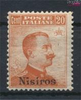 Ägäische Inseln 11VII Mit Falz 1912 Aufdruckausgabe Nisiros (9438170 - Aegean (Nisiro)