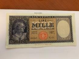Italy 1.000 Lira  Banknote  1947  #3 - 1000 Lire