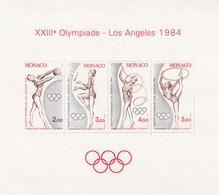 € Monaco Bloc  27 .. Jeux Olympiques  Los Angelès 1984.. Sans Charnière Ni Trace .. Super .. Cote 2020 =  9.30 € - Sommer 1932: Los Angeles