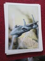 CAGI4 Superbe Gravure Francis BERGESE Sur Carton Fort 180gr , Format Env. A4 , AVIATION : MDD F-15A EAGLE - Aviation