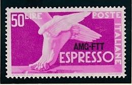 1952 Italia Italy Trieste A  ESPRESSO DEMOCRATICA 50 Lire Serie MNH** EXPRESS - 7. Trieste
