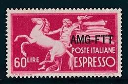 1950 Italia Italy Trieste A  ESPRESSO 60 Lire Serie MNH** EXPRESS - 7. Trieste