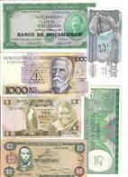 Jamaica Mazambico Brasile Zambia Suriname Zaire 6 Banconote Fds LOTTO 3228 - Jamaica