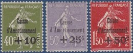 N°__275 A 277 TIMBRES CAISSE D'AMORTISSEMENT, TIMBRES NEUFS ** 1931 - Nuevos