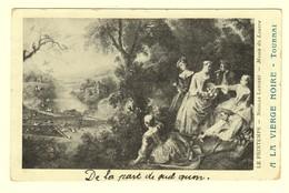 A0057[Postkaart] Le Printemps - Nicolas Lancret - Musée Du Louvre [Tournai Tailleur Reclame A La Vierge Noire] - Publicité