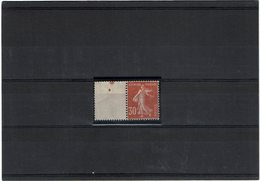 VARIETE - SEMEUSE CAMEE 30c ROUGE SOMBRE TYPE III  Y/T 360a **   BORD DE FEUILLE  TB - Curiosities: 1900-20 Mint/hinged