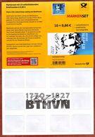 Leeres Markenset, Beethoven, 2020, Komplettierspass Garantiert (FO 49) - Covers & Documents