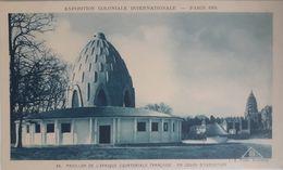 Exposition Coloniale Internationale, Paris 1931. 34 Pavillon De L'Afrique équatoriale Française En Cours D'exécution - Exhibitions