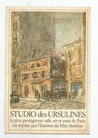 Paris 05 Studio Cinema  Des Ursulines Au 10 Rue Aquarelle D'armand Tallier 1948 Carte D'invitation Pour Film - Arrondissement: 05