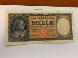 Italy 1.000 Lira  Banknote  1947  #4 - 1000 Lire