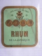 Etiquette De Bouteille - RHUM De La Jamaïque - Aux Armes De Gray - Rhum