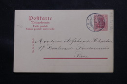 ALLEMAGNE - Entier Postal De Plattig ( Baden ) Pour Paris En 1909 - L 60173 - Ganzsachen