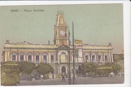 CPA Old Pc Brésil Brazil Bahia Palacio Municipal Vierge - Salvador De Bahia