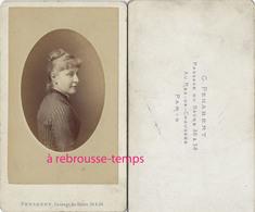 CDV Femme De Profil-photo Pénabert, Passage Du Havre à Paris - Old (before 1900)
