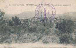 """Cachet """" 2è ZOUAVES MIRABEL ( Drôme ) Sur CP Mirabel Aux Baronnies - WW I"""