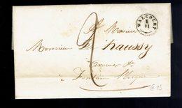 Lac De Walcourt ( Herlant Type 18 ) 1 Juin 1843 => Fontaine L'Evêque ( Herlant Type 18 ) / Charleroi 2 Juin 184 - 1830-1849 (Belgique Indépendante)