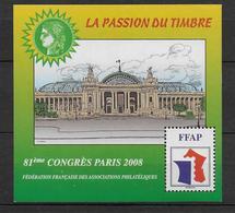 FFAP - 2008 - BLOC Du 81° CONGRES - PARIS - YVERT N°2 ** MNH - FFAP