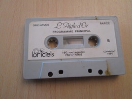 BACPLASTCAV Cassette Pour Jeu L'AIGLE D'OR 1984 LORICIELS ORIC ATMOS Tel Que Sur Photos - Electronic Games