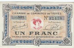 Chambre De Commerce De TROYES - Un Franc - Coins & Banknotes