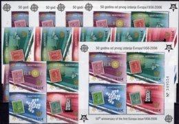 Perf.5x VB+Blocks 50 Years CEPT CRNA GORA 108/1+Block 2A ** 242€ Hoja Blocs History Ss Philatelics Sheets Bf EUROPA - Briefmarken