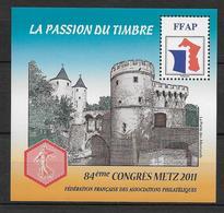 FFAP - 2011 - BLOC Du 84° CONGRES - METZ - YVERT N°5 ** MNH - FFAP