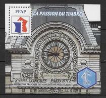 FFAP - 2012 - BLOC Du 85° CONGRES - PARIS - YVERT N°6 ** MNH - FFAP
