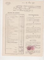 RENNES 35 France Institution Saint-Martin Rue Antrain - Compte Robiniault 1937 Carillon - Diplômes & Bulletins Scolaires