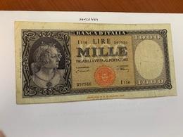 Italy 1.000 Lira  Banknote  1947  #7 - 1000 Lire