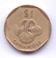 FIJI 1996: 1 Dollar, KM 73 - Fiji