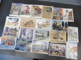 LOT   DE  500      CARTES  POSTALES  REPRODUCTION  DE  TABLEAUX ET  AQUARELLES - 500 Postcards Min.