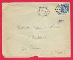 Recette Auxiliaire Rurale RAR Martel De Janville Haute-Savoie Sur Gandon 11-9-1951 Bien Frappé - Marcophilie (Lettres)