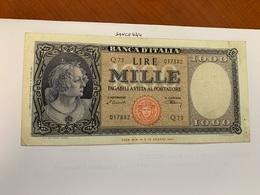 Italy 1.000 Lira  Banknote  1947  #8 - 1000 Lire