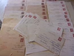 WWII LOT DE 51 ENTIER POSTAUX MEME CORRESPONDANCE DE LAON AISNE A CLERMONT FERRAND PETAIN 1941 / 1942 - 1939-45
